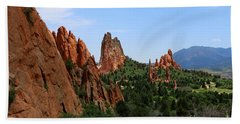 View Of Cathedral Valley - Garden Of Gods Bath Towel
