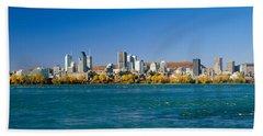 View Of Montreal Skyline And The Saint Bath Towel