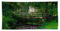 View Of The Grist Mill At Waterloo Village Bath Towel