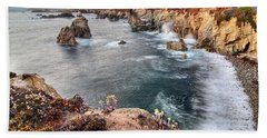 View Of The Rocky Coast From Soberanes Point In Garrapata State  Bath Towel