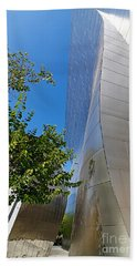 View Of Walt Disney Concert Hall In Downtown Los Angeles Bath Towel