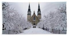 Villanova University In The Snow Hand Towel