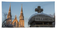 Villanova Wall And Chapel Bath Towel by Photographic Arts And Design Studio