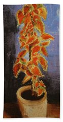 Vincent's Coleus In Pastels Bath Towel by Marna Edwards Flavell