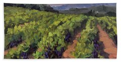 Vineyard At Dentelles Hand Towel