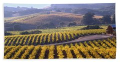 6b6386-vineyard In Autumn Hand Towel