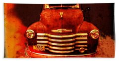 Vintage 1950 Chevy Truck Bath Towel by Rebecca Korpita