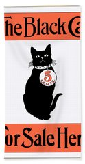 Bath Towel featuring the digital art Vintage Advertisement For The Black Cat Magazine by Joy McKenzie