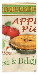 Vintage Apple Pie Sign Hand Towel by Jean Plout