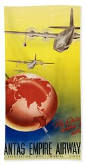 Vintage Australia Travel Poster Bath Towel