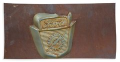 Vintage Badge Hand Towel