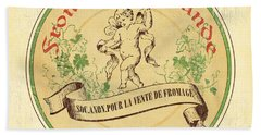 Vintage Cheese Label 2 Bath Towel