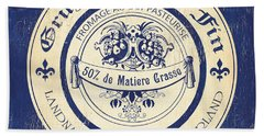 Vintage Cheese Label 5 Hand Towel
