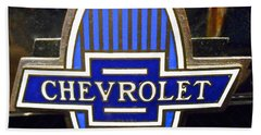 Hand Towel featuring the photograph Vintage Chevrolet Logo by Joan Reese
