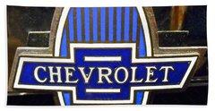 Vintage Chevrolet Logo Hand Towel by Joan Reese