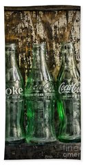 Vintage Coke Bottles Bath Towel