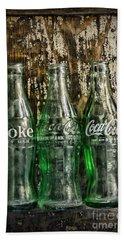 Vintage Coke Bottles Hand Towel
