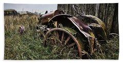 Vintage Farm Tractor Color Hand Towel
