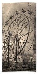 Vintage Ferris Wheel Hand Towel