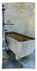 Vintage Fountain Bath Towel