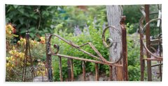 Vintage Gate Hand Towel by Debi Demetrion