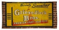 Vintage Griesedieck Bros Beer Dsc07192 Hand Towel