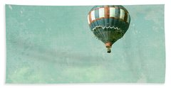 Bath Towel featuring the photograph Vintage Inspired Hot Air Balloon In Red White And Blue by Brooke T Ryan