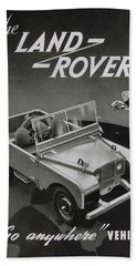 Vintage Land Rover Advert Hand Towel
