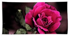 Vintage Love Rose Hand Towel by Kay Novy