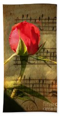 Hand Towel featuring the photograph Vintage Love Story Symphony by Judy Palkimas