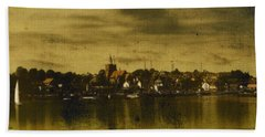 Hand Towel featuring the digital art Vintage Maldon  by Fine Art By Andrew David