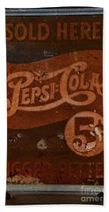 Vintage Pepsi Sign Hand Towel