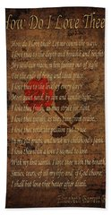 Vintage Poem 4 Bath Towel