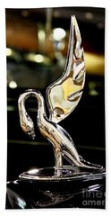 Vintage Swan Packard Hood Ornament Car Fine Art Photography Print  Bath Towel by Jerry Cowart
