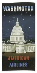 Vintage Travel Poster - Washington Hand Towel
