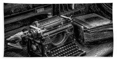 Vintage Typewriter Bath Towel