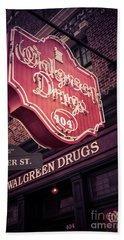 Vintage Walgreen Drugs Store Neon Sign Hand Towel
