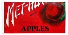 Vintage Washington State Apple Warehouse Label Met-how Art Prints Bath Towel