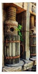 Vintage Wine Press Hand Towel