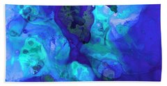 Violet Blue - Abstract Art By Sharon Cummings Bath Towel