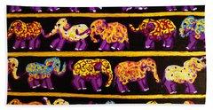 Violet Elephants Hand Towel