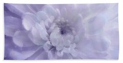 Violet Mum Luminous Painted Blossom Hand Towel