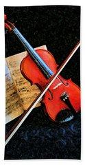 Violin Impression Redux Bath Towel