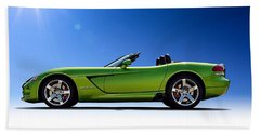 Viper Roadster Hand Towel by Douglas Pittman