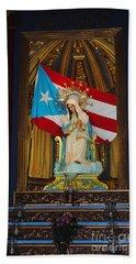 Virgin Mary In Church Hand Towel