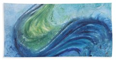 Peacock Vision In The Mist Hand Towel by Diane Pape
