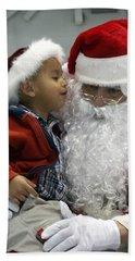 Visiting Santa Clause Hand Towel