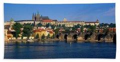 Vitava River Charles Bridge Prague Bath Towel
