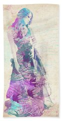 Viva La Vida Hand Towel by Linda Lees