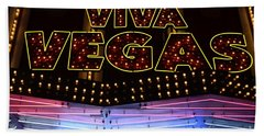 Viva Vegas Neon Bath Towel by Bob Christopher